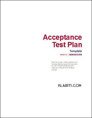 acceptance test plan click here to download - 57 Microsoft Word Business Plan Templates Entire