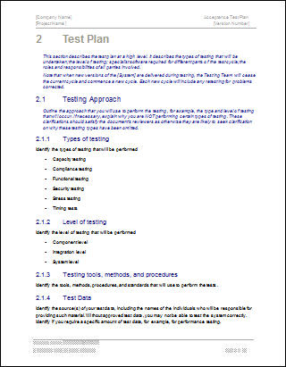 Acceptance Test Plan - Click here to Download