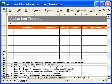 action plans templates excel