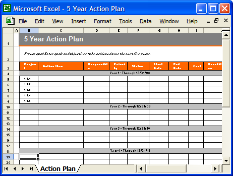 10+ 5 Year Plan Templates