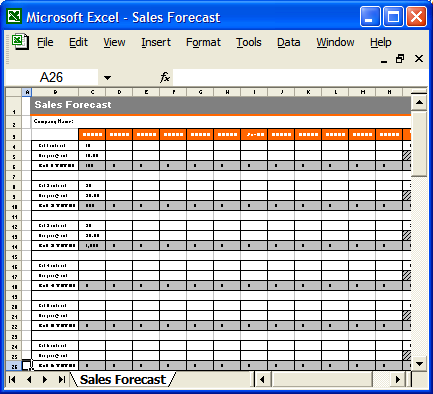 Free excel sales plan template accmission Image collections