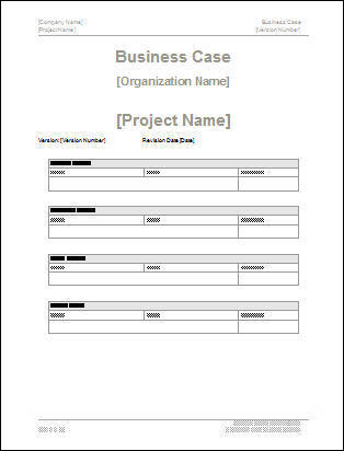 Business Case Template Downloads  Corporate Word Templates