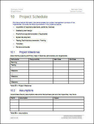 Case Summary Template Business Case Template Business Case Template
