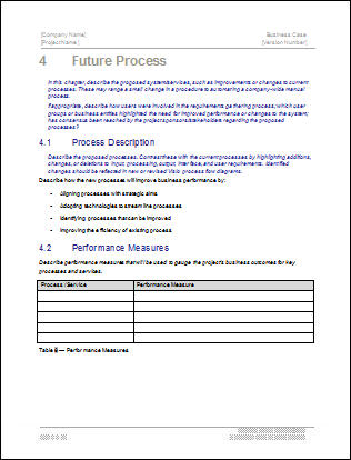 Business case template 22 pages ms word with free sample materials business case template future process wajeb Choice Image