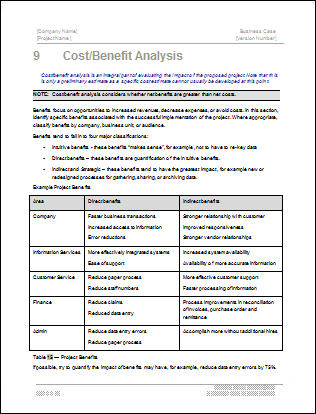 Business Analysis Template Business Cash Flow Analysis Template