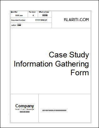 Case Study Template  Download  Ms Templates With Samples  Tutorials