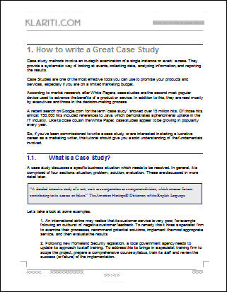 Using case studies to generate new leads develop your brand for Template for writing a case study