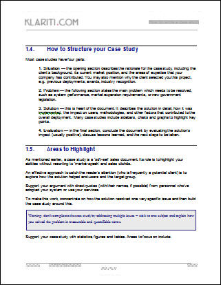 Case Study Memo Sample