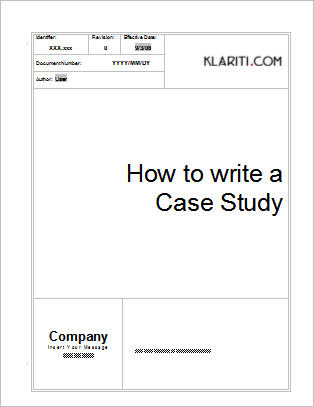 Using case studies for strategic advantage for Template for writing a case study