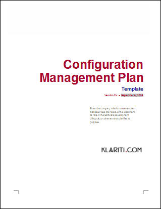 How to write a software configuration management plan