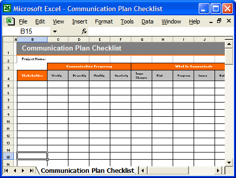 Communication plan templates download ms word and excel for Change management communication template
