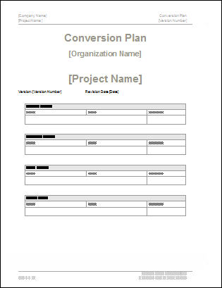 Conversion Plan Template