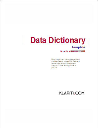 Click here to download your Data Dictionary Template
