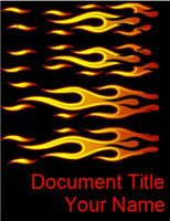 Download Free Word template - Fire