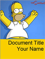 Download Free Word template - Homer Simpson