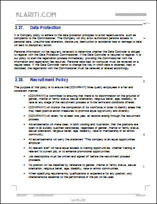 Anti Discrimination Policy Template Employee Handbook Template Download 100 Pg MS Word Templates Excel
