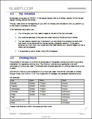 Free Employee Handbook Template Sample Employee Handbook