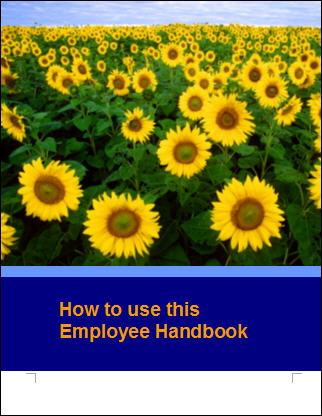 free employee handbook template