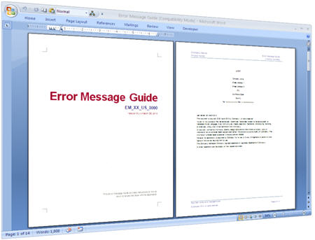 Error Message  Use This Ms Word Template To Document Error Messages