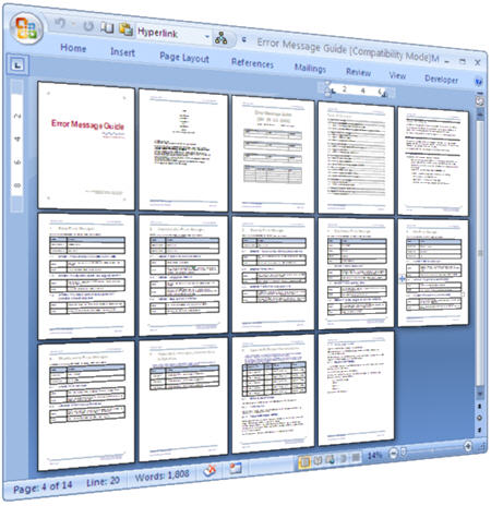 Error Message - Use This Ms Word Template To Document Error Messages