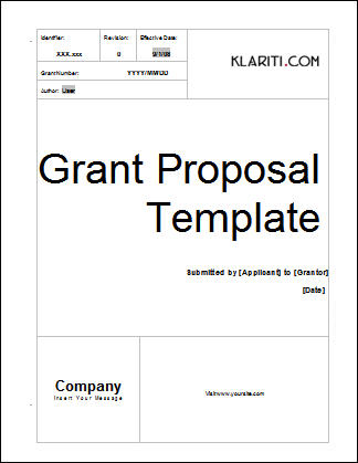 Free grant proposal template expocarfo Choice Image