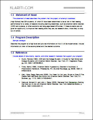 grant proposal template ms word with free cover letter budget form
