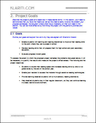 Grant Proposal Template  Software  Software Templates