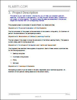 Grant Proposal Responsive Grant Proposal Format Free Download