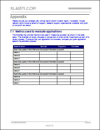 Sample Grant Applications Grant Templates Instant Download Grant