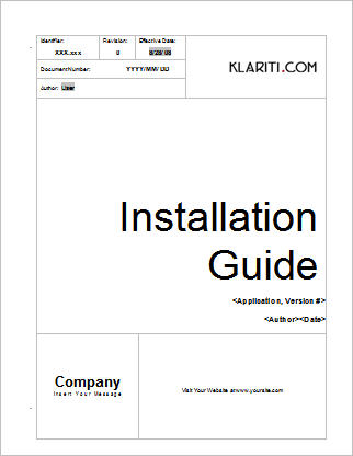 Software Manual Template Microsoft Word  Template Using