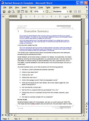 Market research template ms word and excel downloads for Research synopsis template