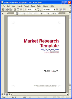 Industry Analysis Template Best Proposal Sample Ideas On