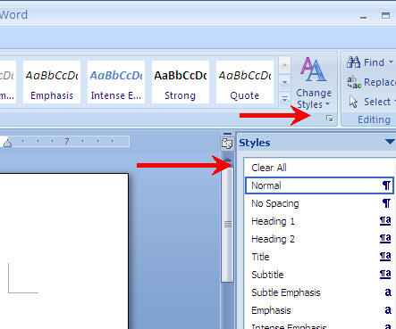 Alfa img - Showing Using Microsoft Word Styles