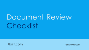 How to Perform a 'Post Mortem' on Technical Documents