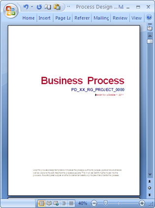 Business process design templates ms word excel visio microsoft word business process template wajeb Image collections