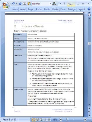 Business process design templates ms word excel visio excel templates to support the process design project cheaphphosting Image collections