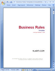 Business rules templates ms wordexcel business rules template wajeb Images