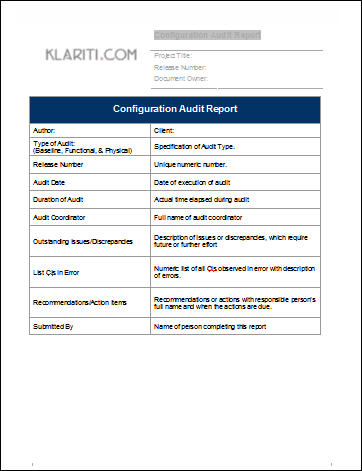 Configuration Management Plan Template (MS Word ...