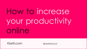 20 Productivity Tips For Home-based Technical Writers