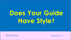 What's the right Style Guide for a new Tech Pubs Dept?