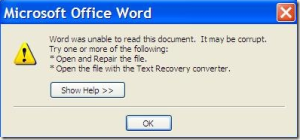 Guide to Fixing Corrupt MS Word Documents